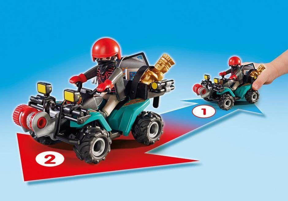 Playmobil Fugitivo com Quadriciclo