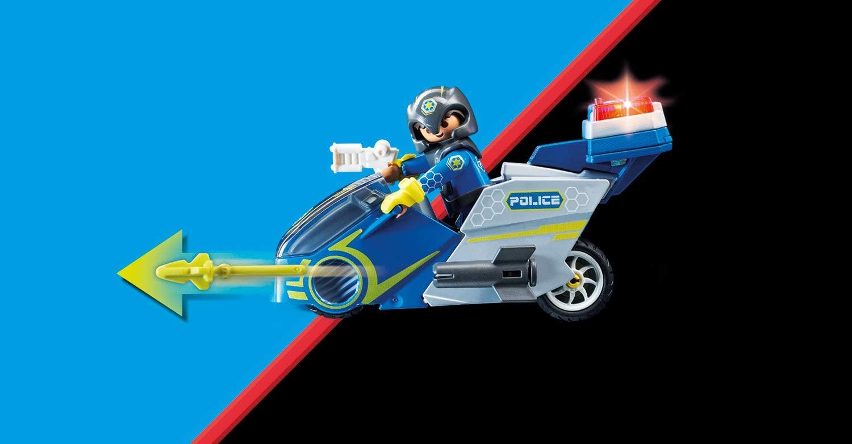 Playmobil Galaxy Police - Polícia Galáctica com Moto 70020