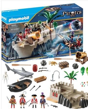 Playmobil Piratas - Barco a Remo com canhão 70413