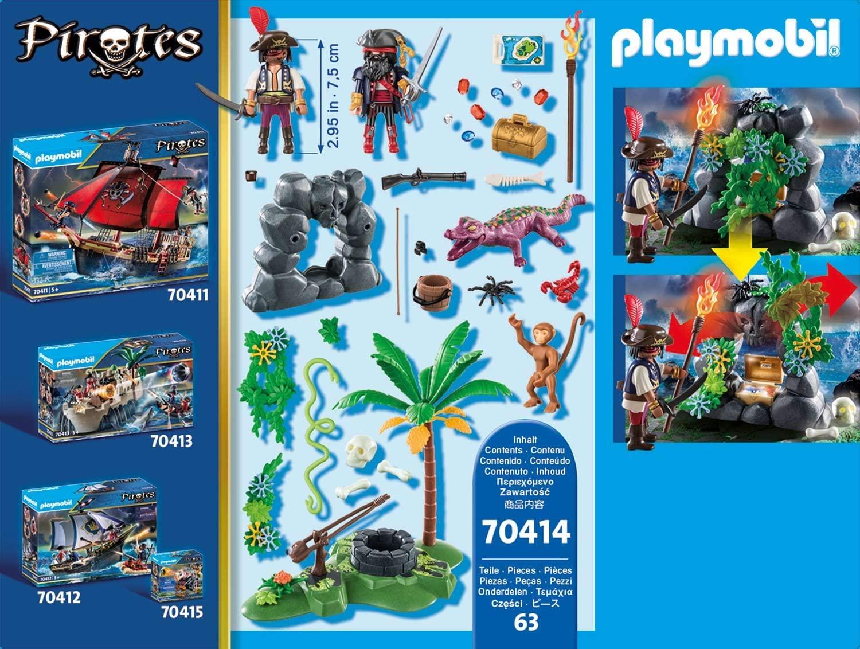 Playmobil Piratas  - Treasure Hideaway 70414