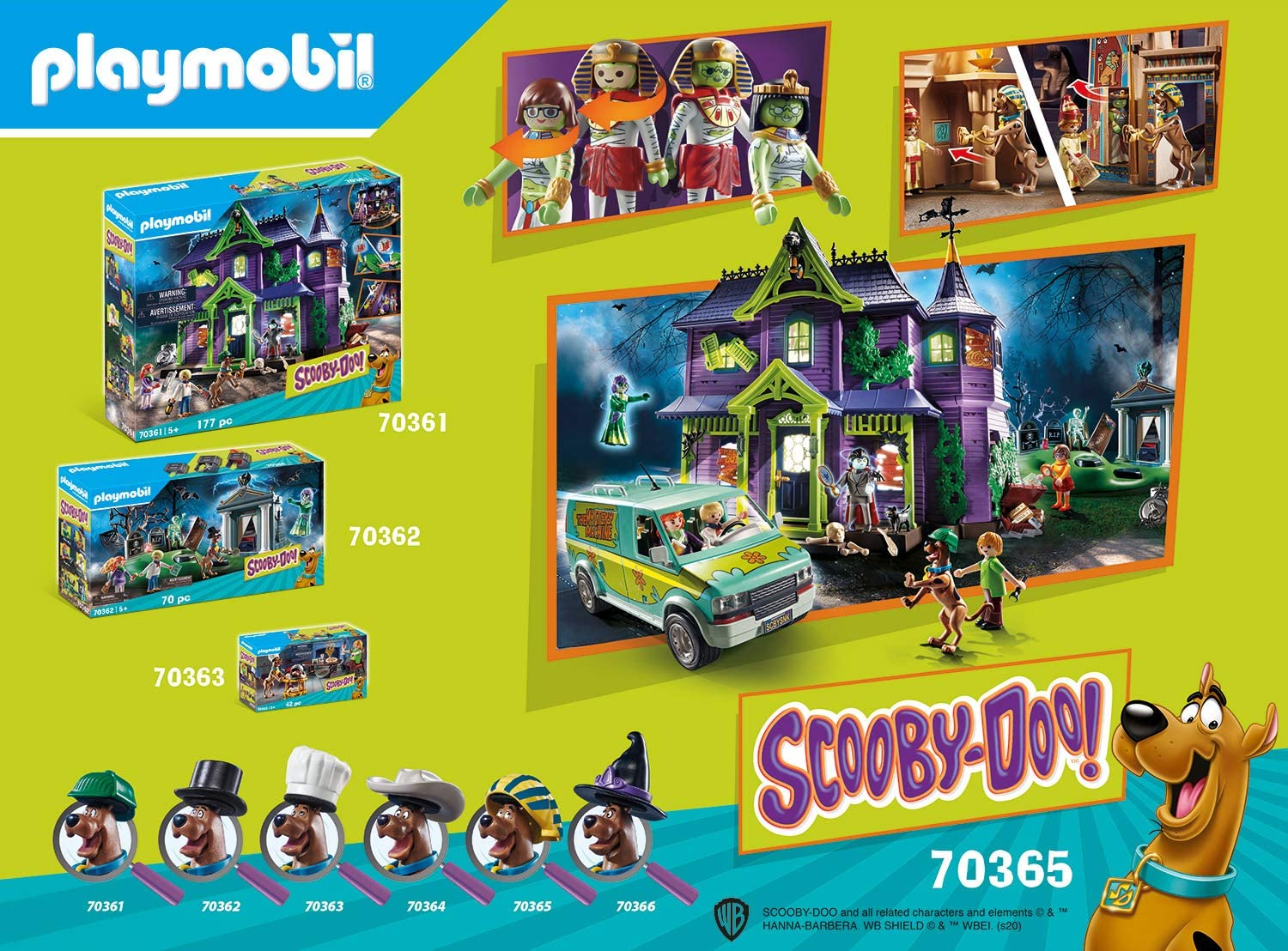 Playmobil Scooby- Doo -  Aventura no Egito Playset 70365