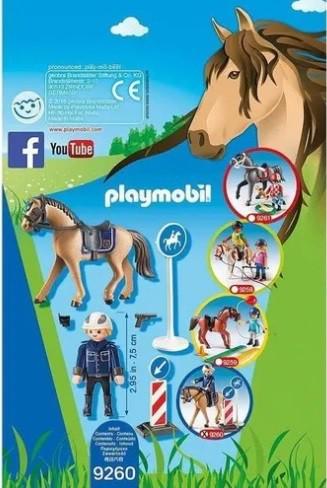Playmobil - Soft Bag Cavalos Policia Montada