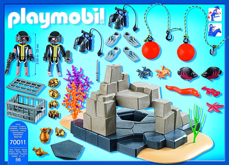 Playmobil Super Set -  Unidade de Mergulho Policial com Tesouro Escondido 70011