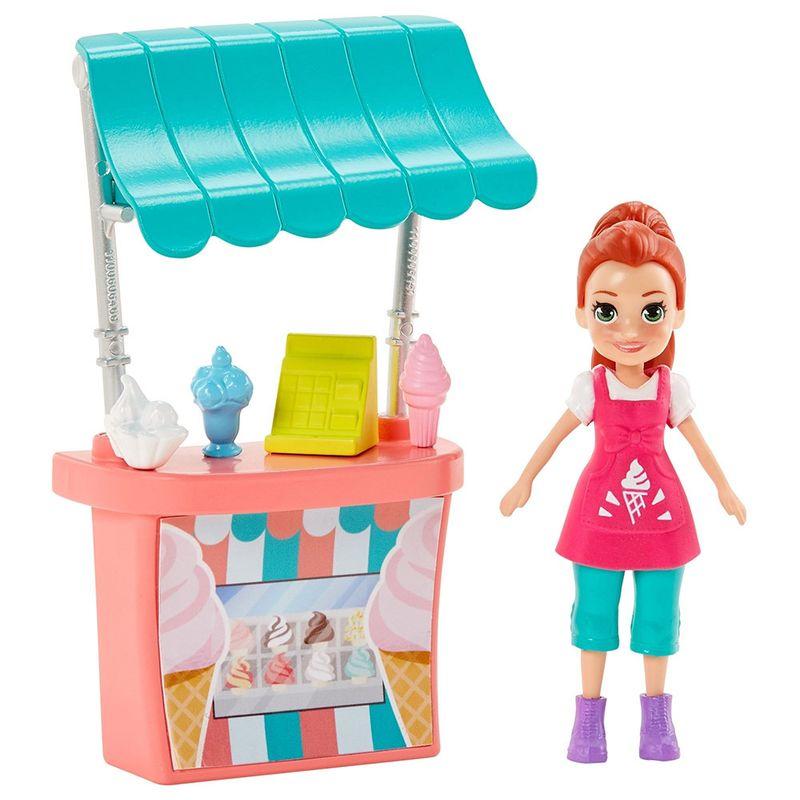 Polly Pocket - Atividades de Verão - Quiosque de Sorvete da Lila