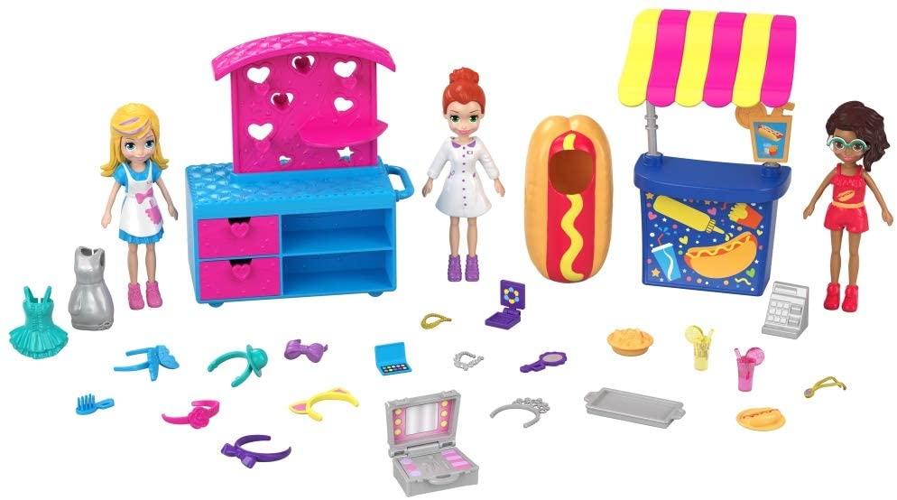 Polly Pocket - Bonecas Quiosque de Moda e Lanchinhos
