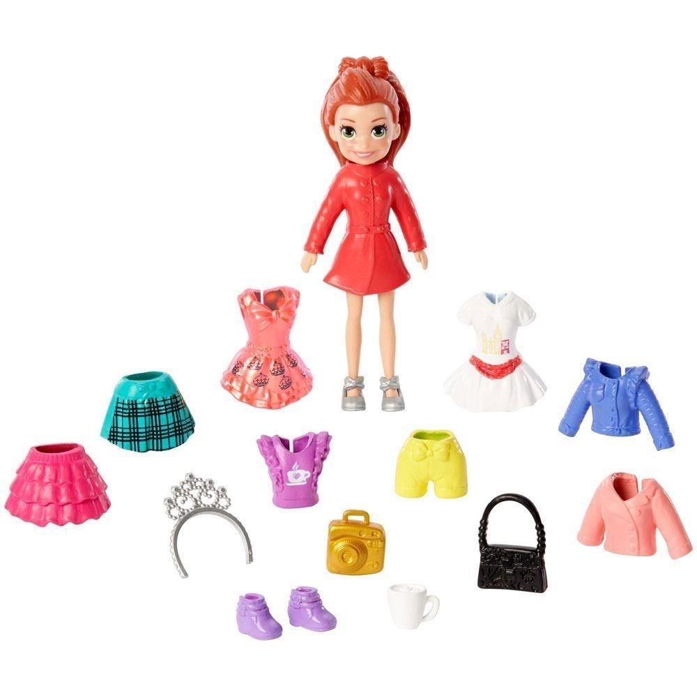 Polly Pocket - Lila Kit Fashion de Viagem Europa