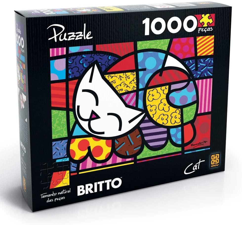 Quebra Cabeça - 1000 peças Romero Britto - Cat