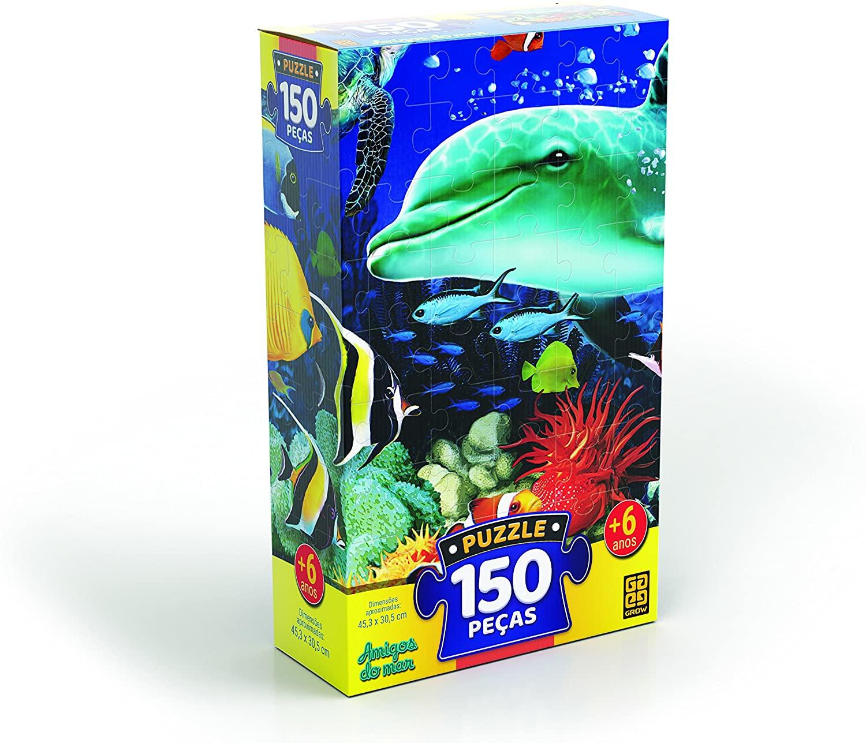 Quebra Cabeça - Amigos do Mar 150 peças