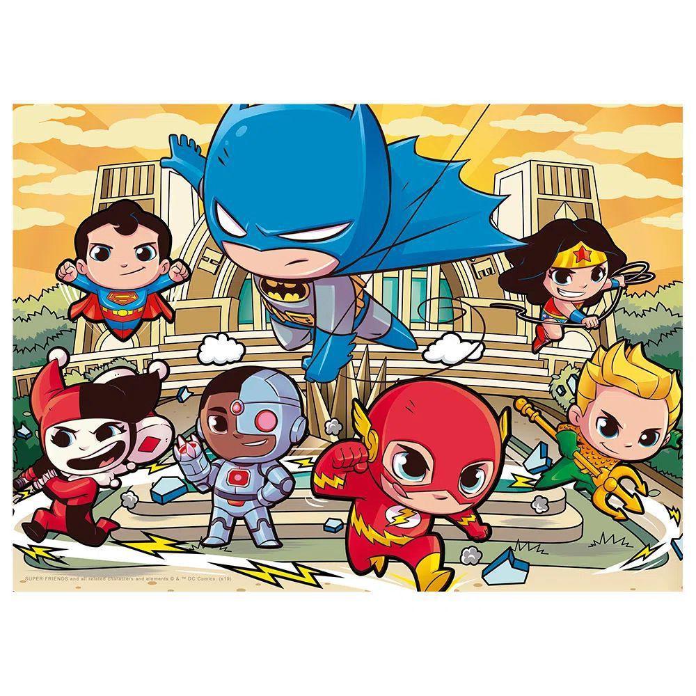 Quebra Cabeça - Liga da Justiça Superfriends 60 peças