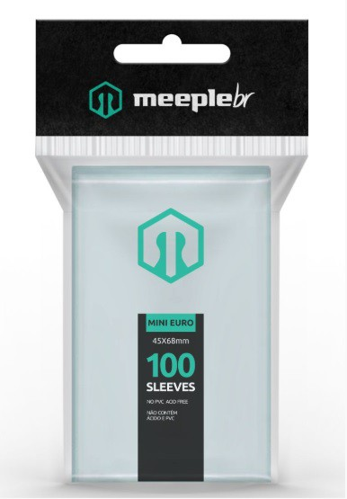 Sleeves MeepleBR - MINI EURO (45 x 68 mm)