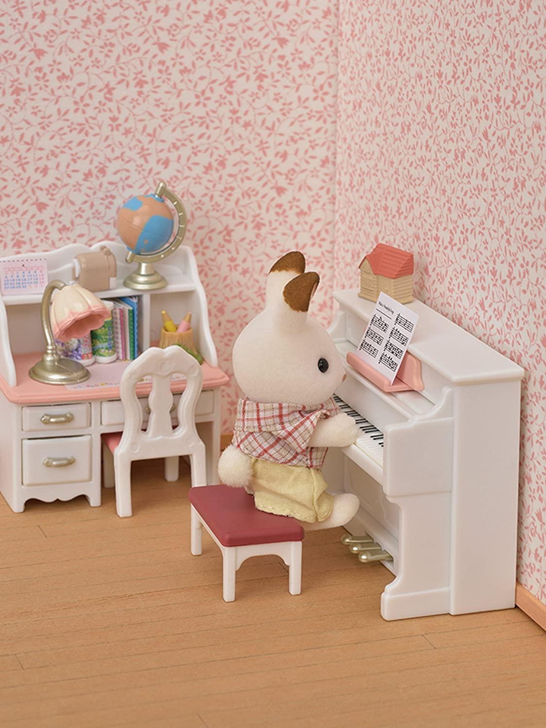 Sylvanian Families - Conjunto Piano com Escrivaninha
