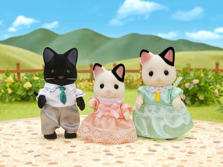 Sylvanian Families - Família dos Gatos Malhados