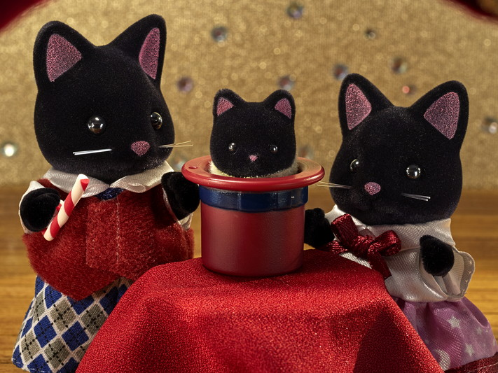 Sylvanian Families - Família dos Gatos Meia-Noite