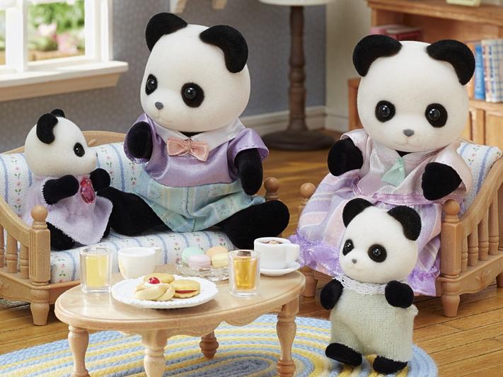 Sylvanian Families - Família dos Pandas Graciosos