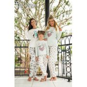 Pijama Manga Longa com Calça