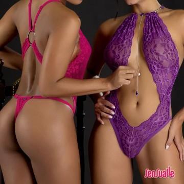 Body Perfeito Sensual Rendado (519)