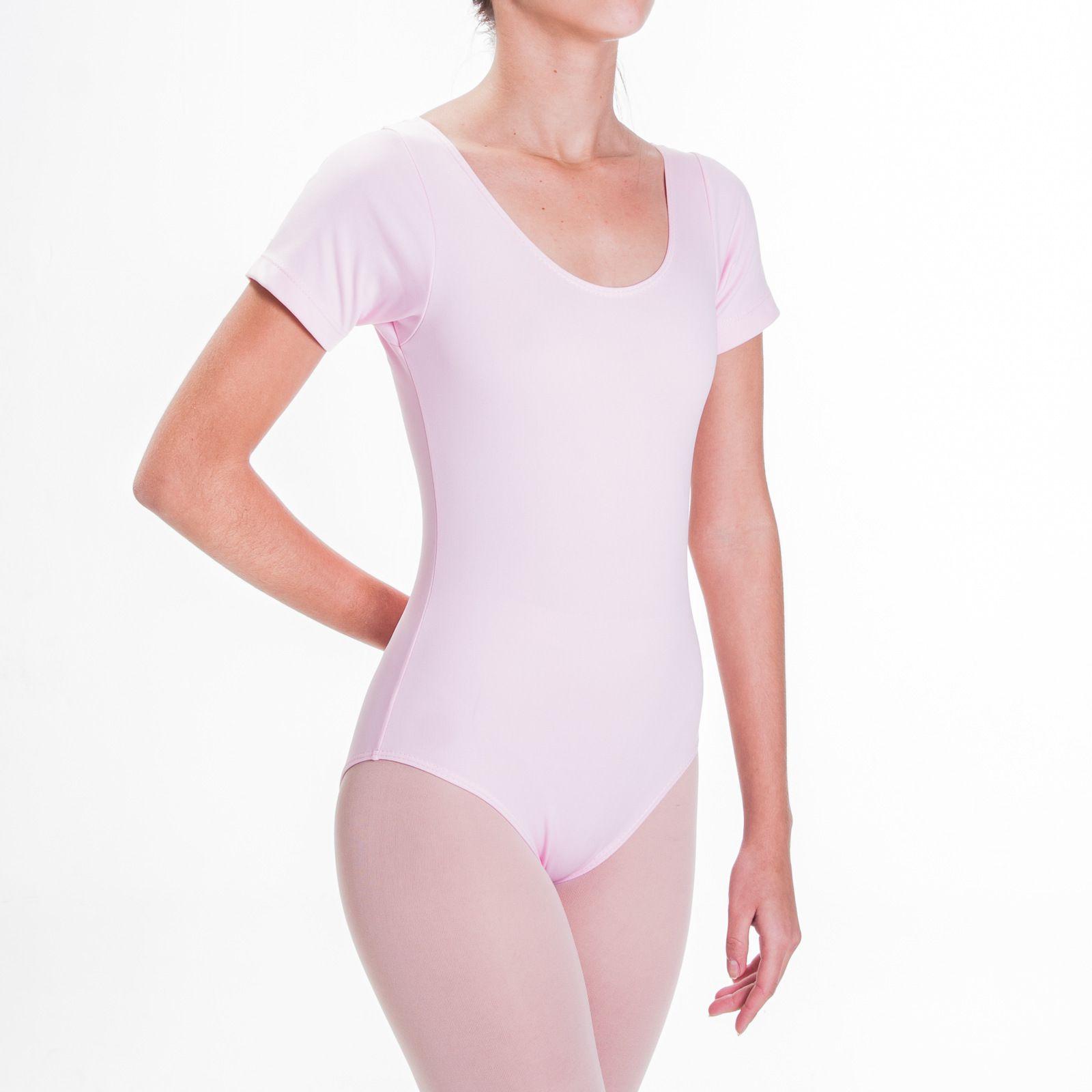 Collant Manga Curta Infantil para Ballet (1003)