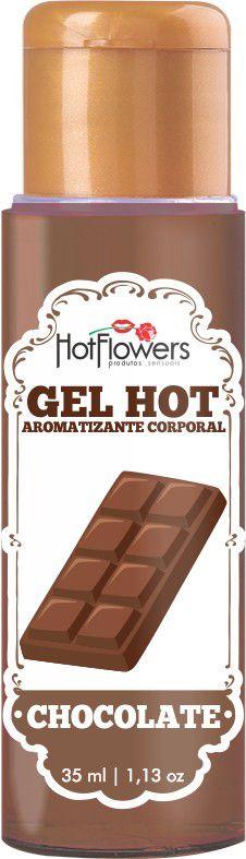 Gel Comestível para Massagem Chocolate Hot Flowers