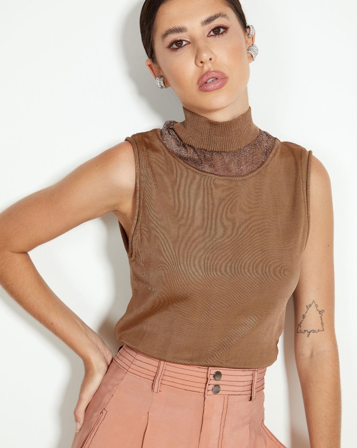 Blusa Tricô Com Brilho
