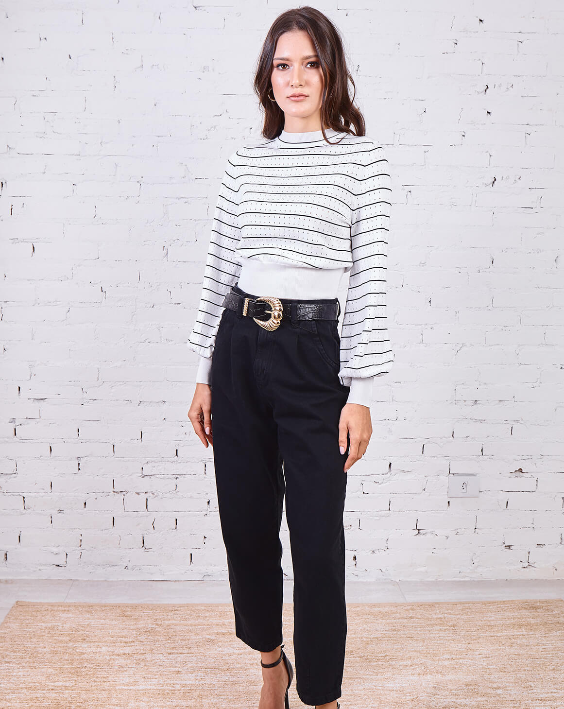 Calça Jeans Mom Preta