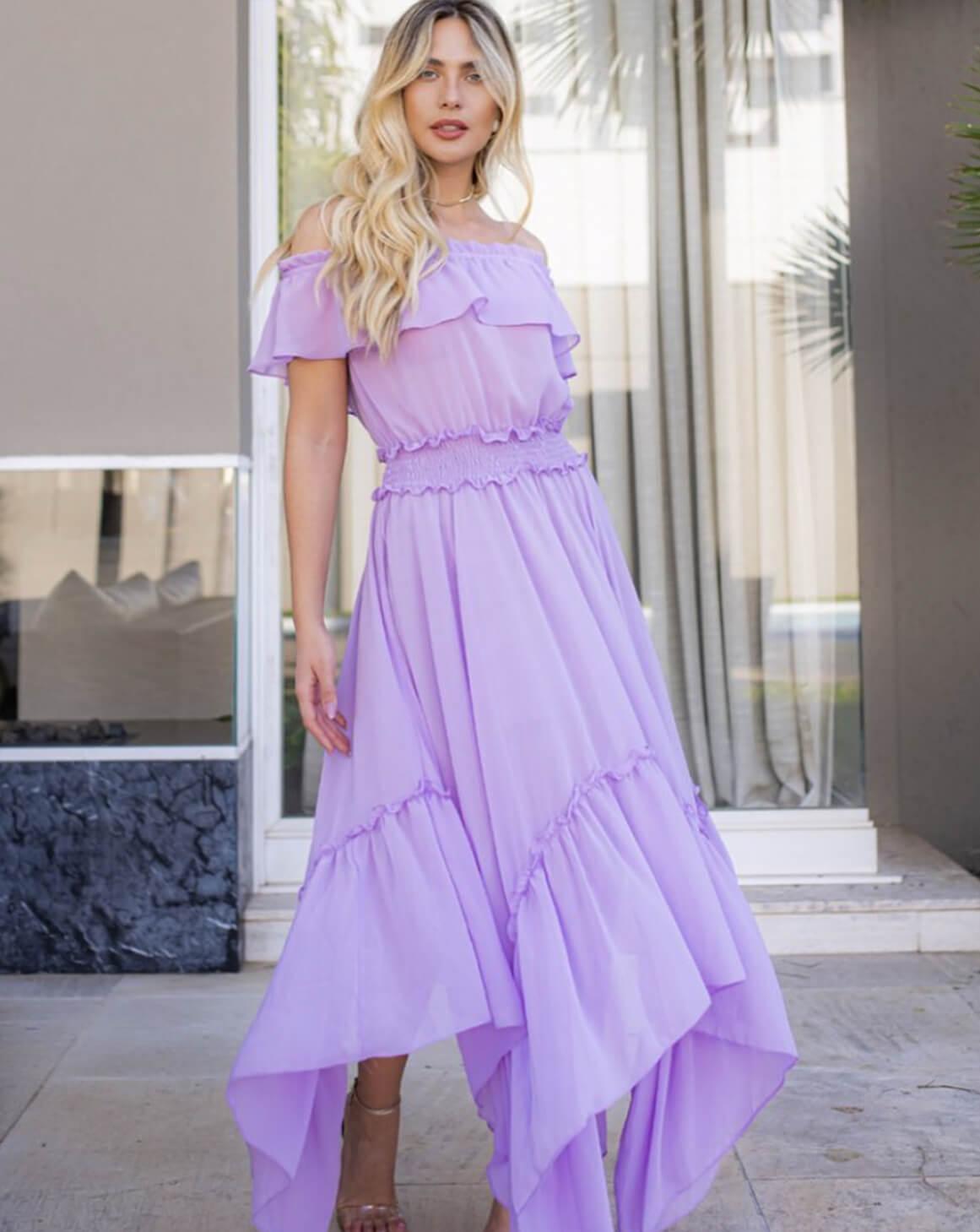 Vestido Chiffon Princess Color