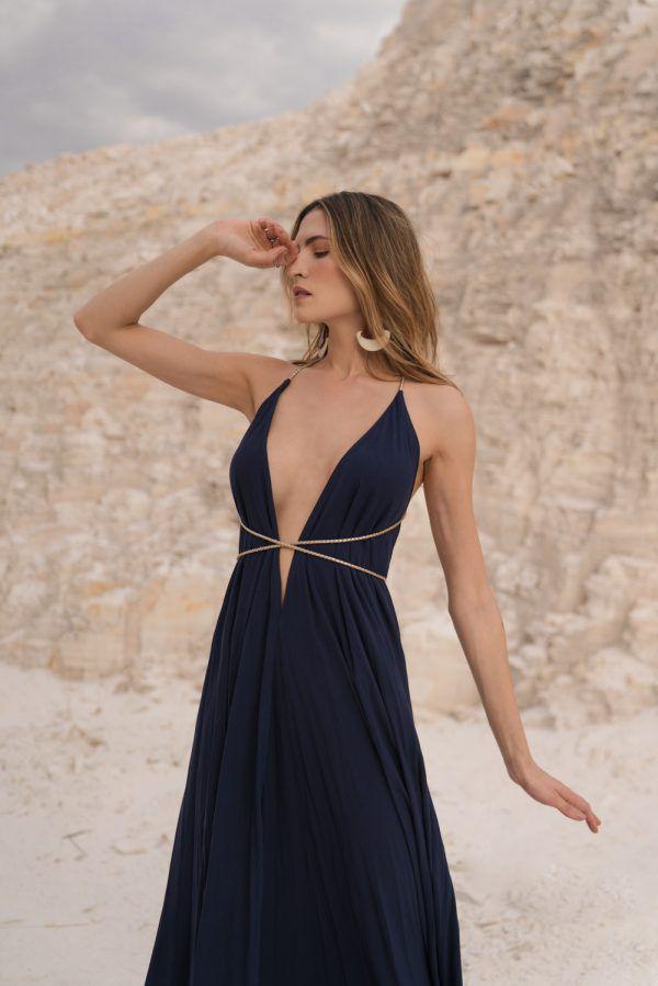 Vestido Hungria Azul Marinho