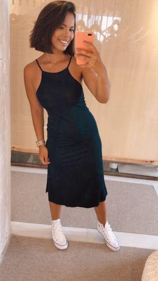 Vestido Malha Recortes Costas