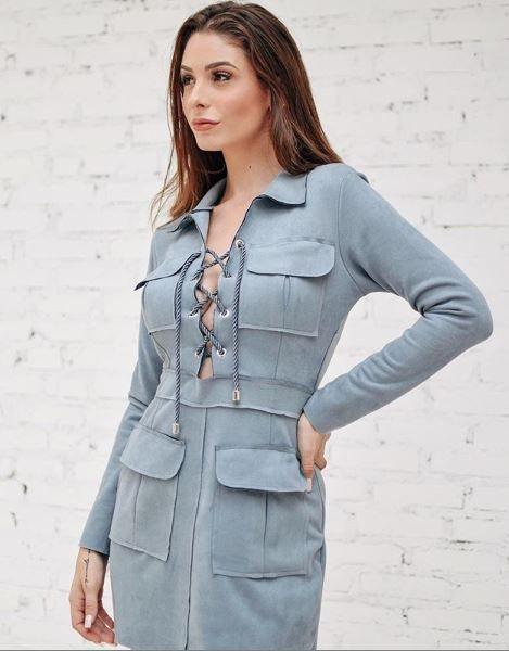 Vestido Praga Blue