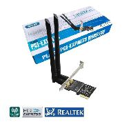 Placa Wi-Fi Dual Band 2.4 / 5 GHz 1200 Mbps Wireless 5G PCI-e