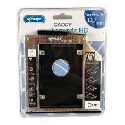 Adaptador Caddy para HD ou SSD Sata Notebook 12,7mm Knup