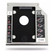 Adaptador Caddy para HD ou SSD Sata Notebook 9,5mm Knup