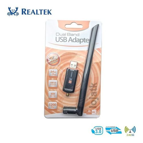 Adaptador Wi-Fi Dual Band 2.4/5Ghz 1200Mbps USB 3.0 Antena de 5dBi
