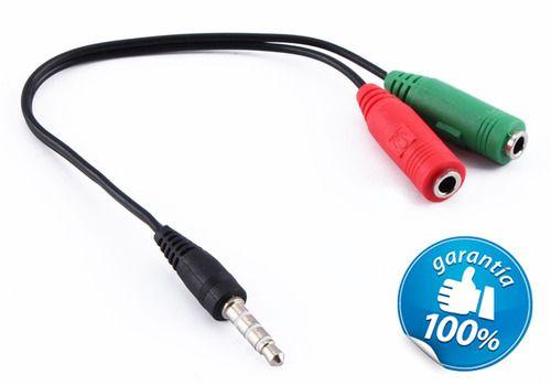 Cabo Adaptador P3 (P2 combo) para Fone e Microfone (Headset)