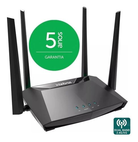 Roteador Wi-Fi Dual Band 2.4 / 5GHz Gigabit Intelbras RG 1200