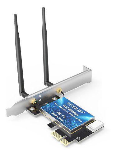 Placa de Rede Wi-fi Dual Band 2.4Ghz / 5Ghz 600Mbps Bluetooth 4.0 Pci-e