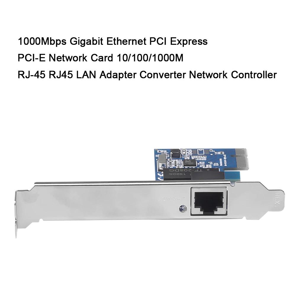 Placa de Rede Ethernet Pci-e 10/100/1000mbps Gigabit Chipset Realtek