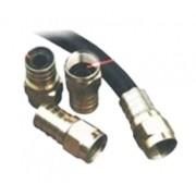 Conector F Tipo Grimpar - RG 59 Acabamento níquel