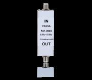 Filtro Passa Canal - Faixa de operação de 50 ~ 400 MHz