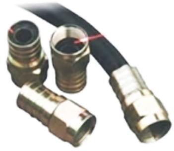 Conector F Tipo Grimpar - RG 6 Acabamento níquel