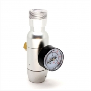 Mini Reguladora de CO2 para cilindros de 16/32G c/ rosca 3/8'' - 24UNF