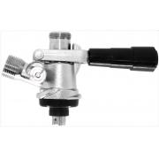 Válvula Extratora de chopp tipo S - Alavanca em plástico sem espigões (Corpo Latão Forjado-Sonda e Componentes INOX 304)