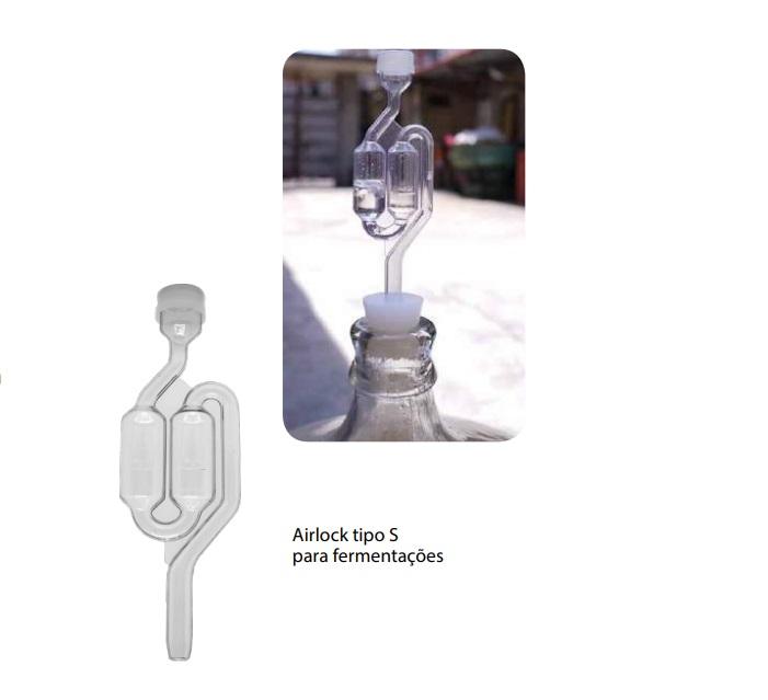 Airlock Tipo S Para Cerveja Artesanal Home Brew 06 unidades