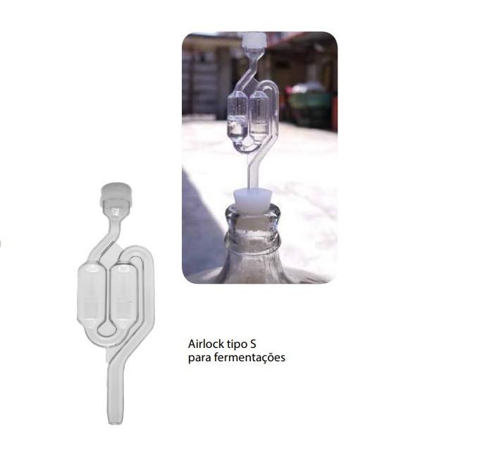 Airlock tipo S para fermentação