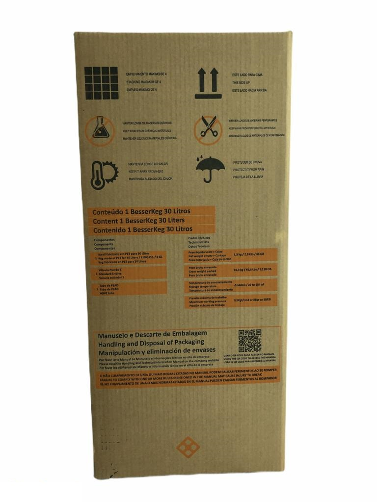 Barril de Chopp 30 Litros - PET KEG