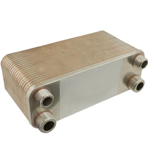 """Chiller 40 placas - Trocador de calor em placar para uso com cerveja - entrada/saída: Espigão de 3/8"""""""
