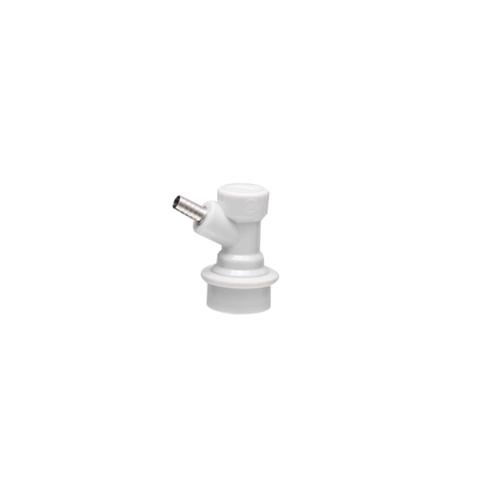 """Conector Ball Lock Gas - Rosca 1/4"""" (Branco)"""