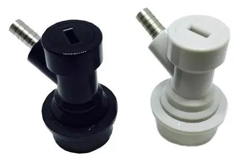 Conectores Ball Lock Líquido E Gás Chopp2Go 1/4 - PRETO + BRANCO - ESPIGÃO
