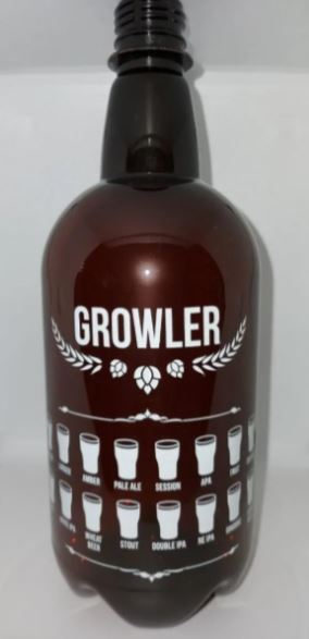 Growler Pet 1 Litro - Âmbar - UNIDADE