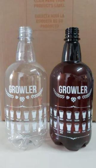 Growler Pet 1 Litro - Cristal - UNIDADE