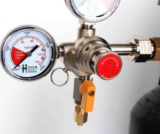 Manômetro - Regulador de pressão para Co2 - 1 via